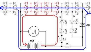 Аварийный светильник: схема